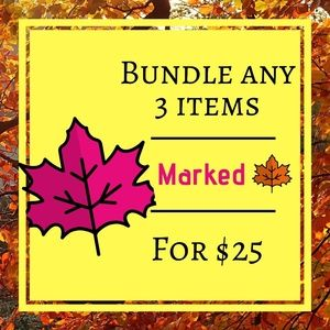🍁 3 items for $25, Everything marked with a 🍁